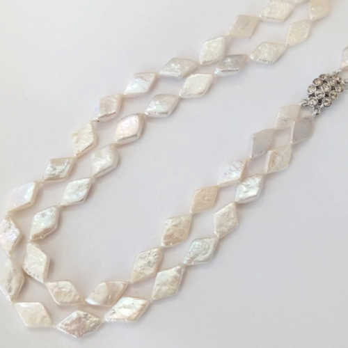 A Double Row of Diamond-Shaped Pearls